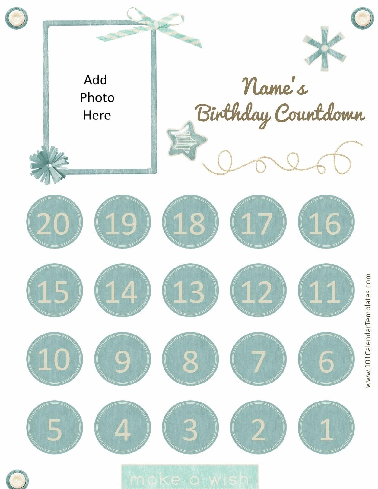 Printable Calendar Countdown | Printable Calendar 2019 Calendar Countdown To Print