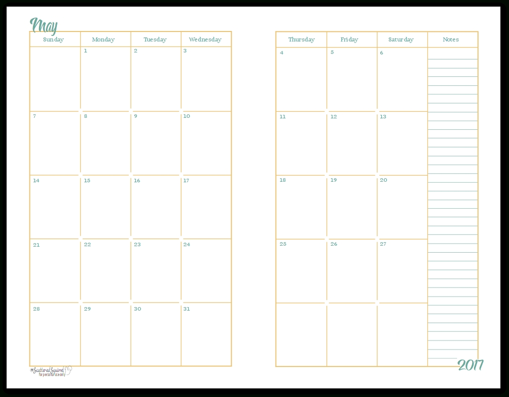 Printable Calendar Double Month | Printable Calendar 2019 Free Printable Calendar Double Month