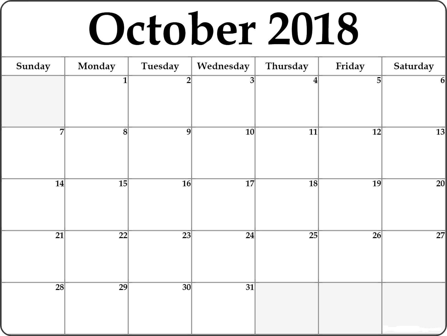 Printable Calendar October - Printable Calendar & Birthday Cards Online Calendar Printing With Photos