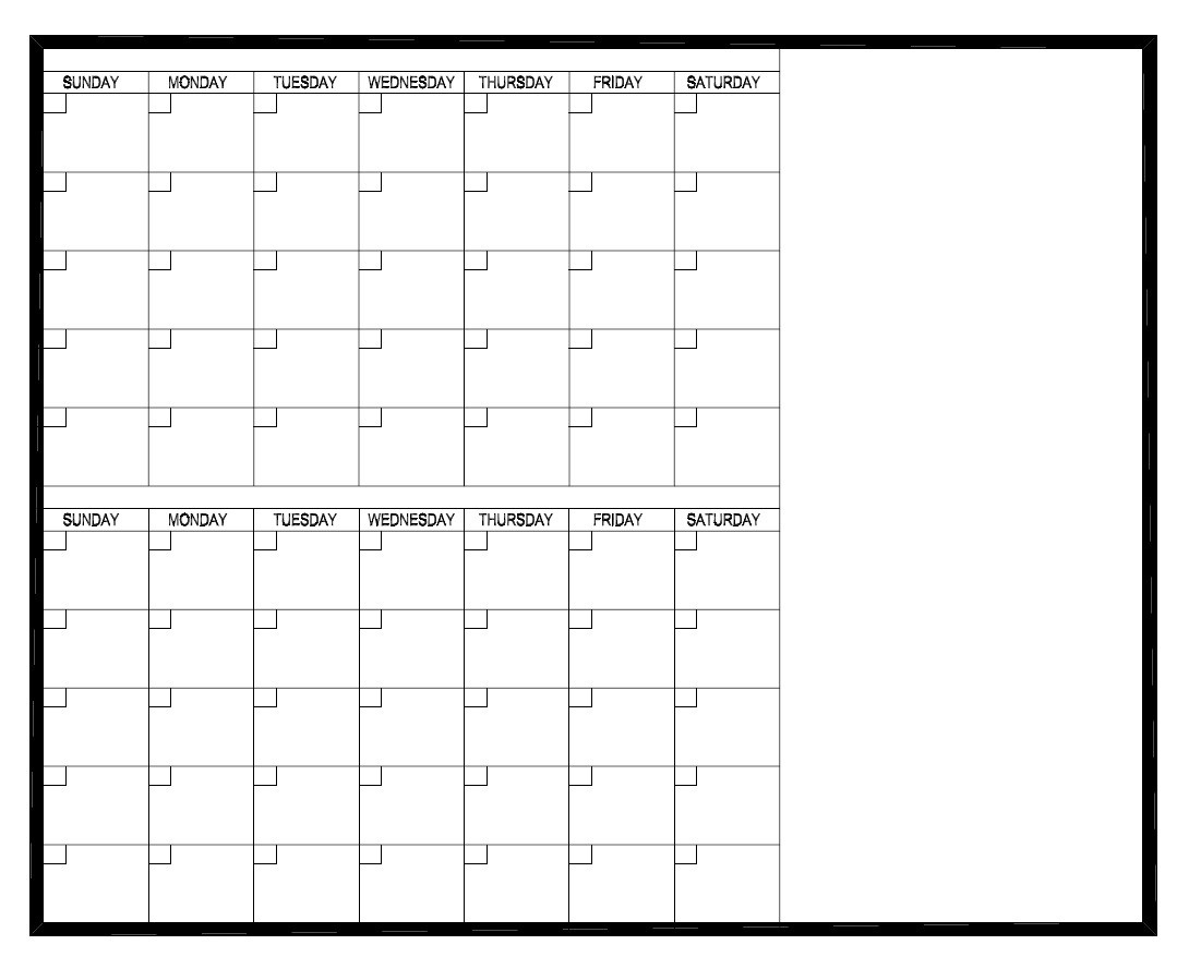 Prowite Calendar 2 Months 1200 X 1500Mm - Laser Etched Whiteboards 2 Month Calendar Whiteboard