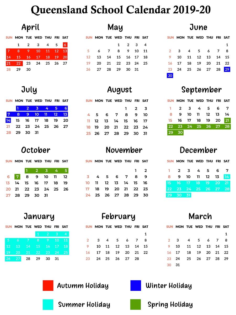 Qld School Holidays Calendar 2019 – 2020 | Qld School Holidays 2020 School Calendar Queensland State Schools