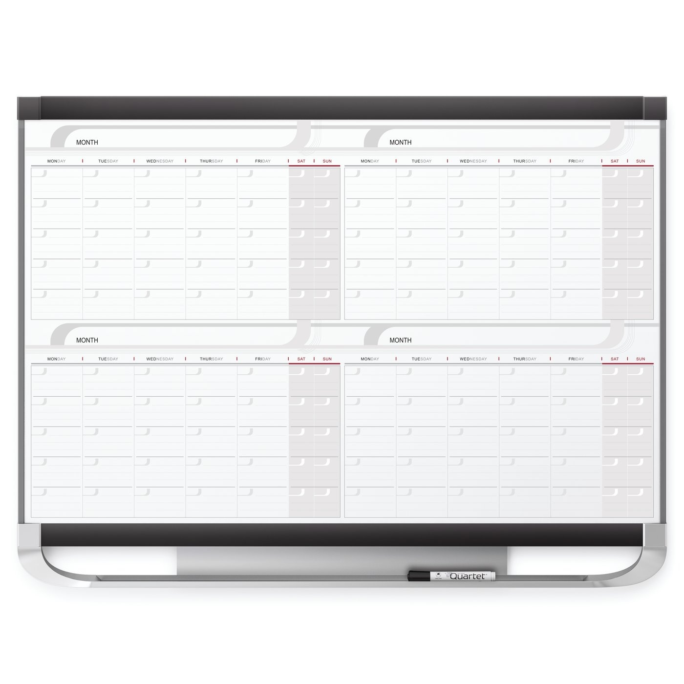 Quartet - Boards - Specialty Whiteboards - Whiteboard Calendars 2 Month Calendar Whiteboard