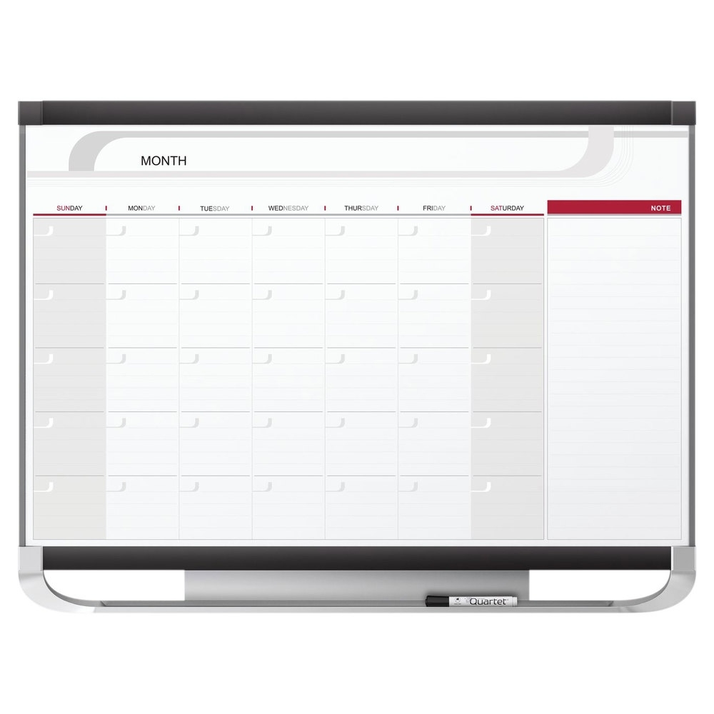 "Quartet Cp43P2 Prestige 2 36"" X 48"" Total Erase Magnetic Monthly 2 Month Calendar Whiteboard"