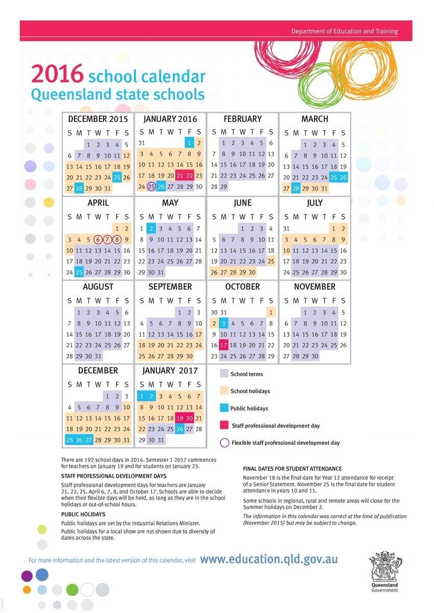 "Queensland Department Of Education On Twitter: ""the Min For Ed Has 2020 School Calendar Queensland State Schools"