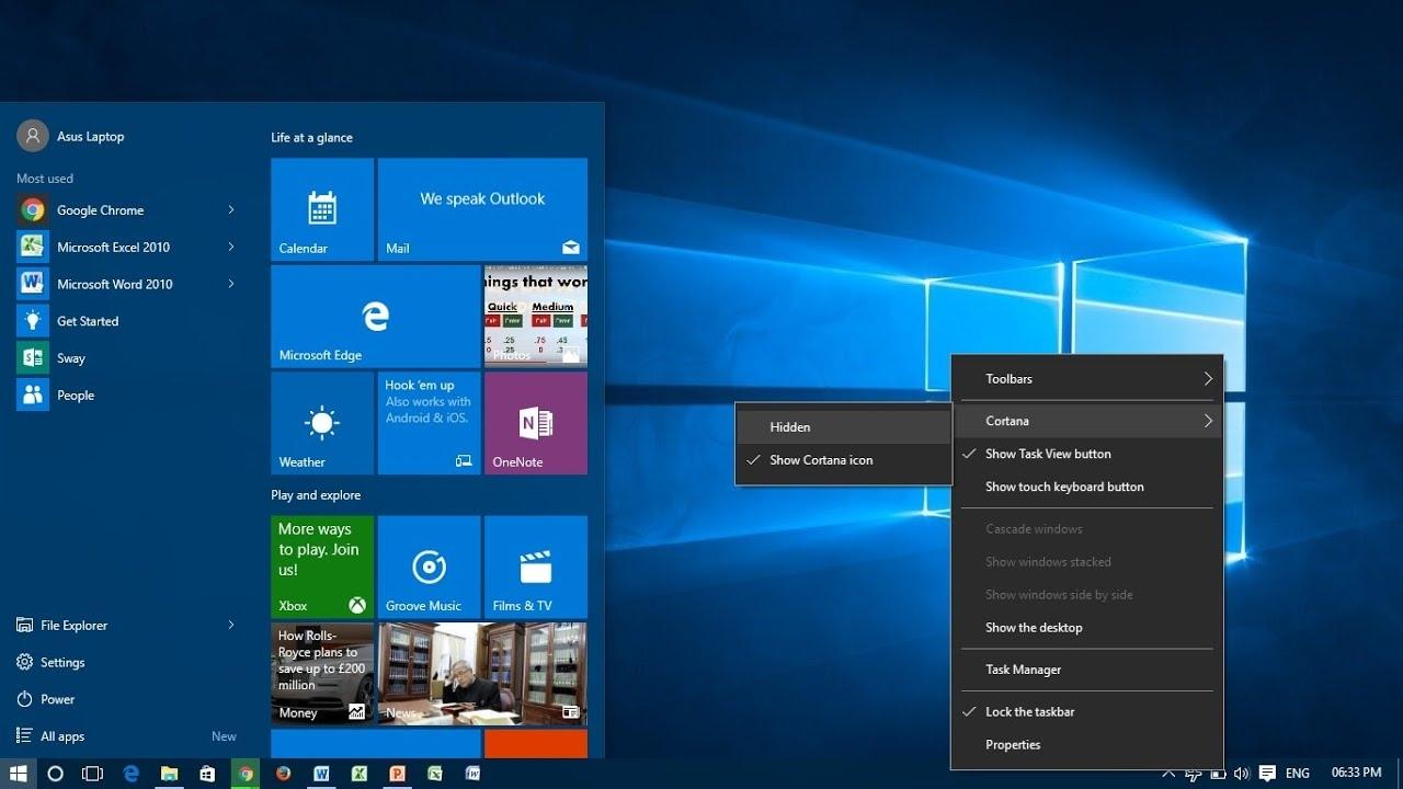 Resize The Taskbar Icons In Windows 10 - Youtube Calendar Icon On Taskbar