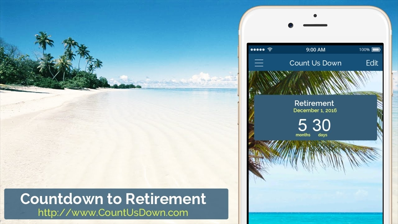Retirement Countdown - App To Count Down The Days To Retirement Countdown Calendar To Retirement Desktop