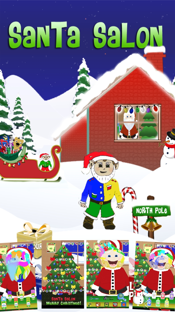 Santa Salon App - Merry Christmas! | Santa Salon Christmas App For Christmas Countdown Calendar App