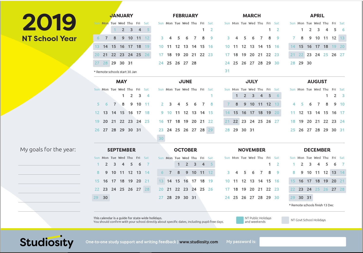 School Terms And Public Holiday Dates For Nt In 2019 | Studiosity Iphone 5 Calendar Public Holidays