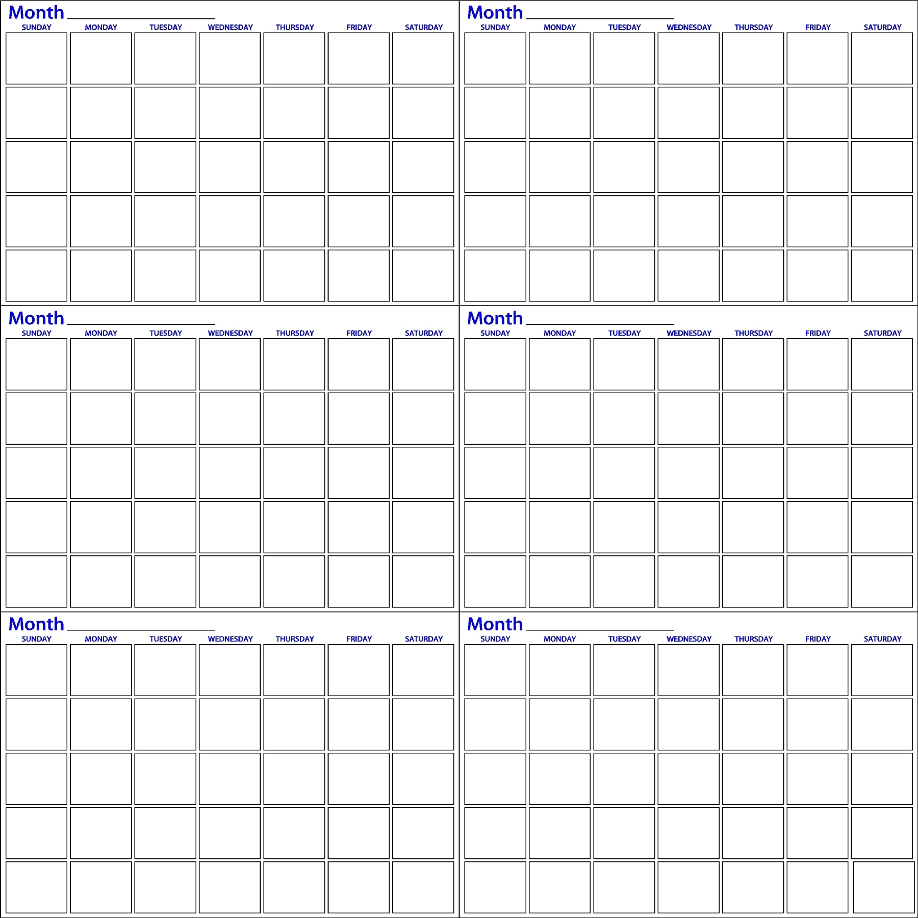 Six Month | Calendar Whiteboard | Dry Erase Innovations 2 Month Calendar Whiteboard