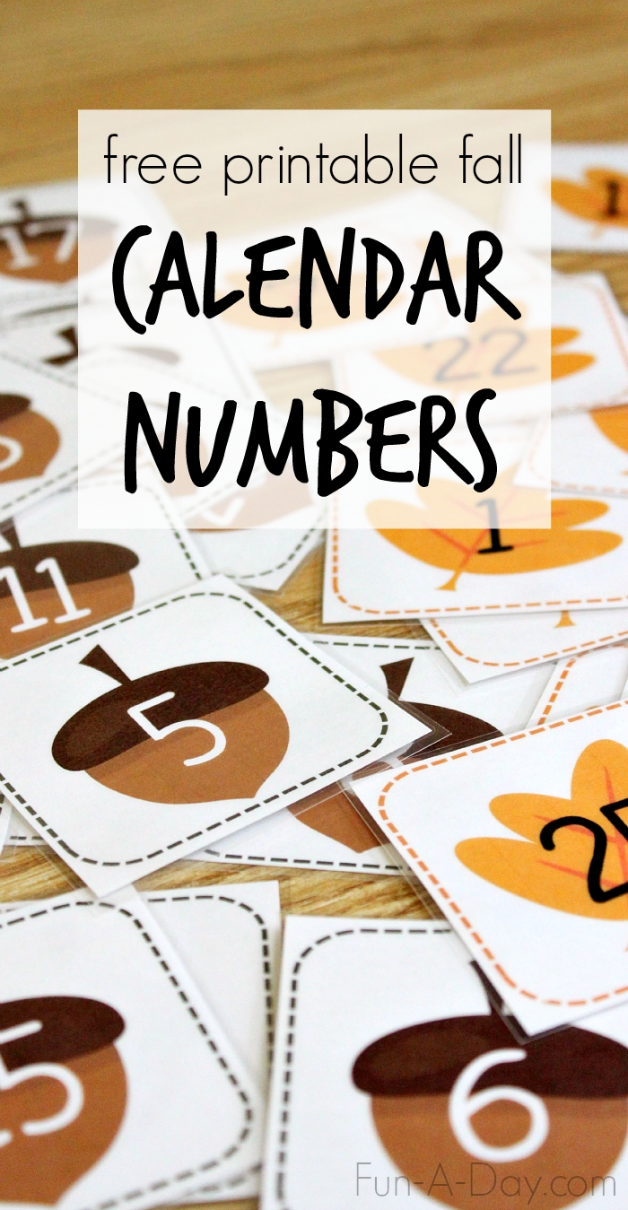 So Many Uses For These Free Printable Fall Calendar Numbers Printable Calendar Numbers For Preschool