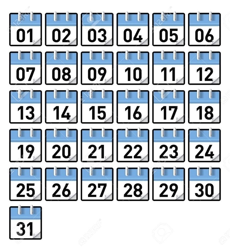 Take Printable Preschool Numbers 1 31 ⋆ The Best Printable Calendar Printable Calendar Numbers For Preschool