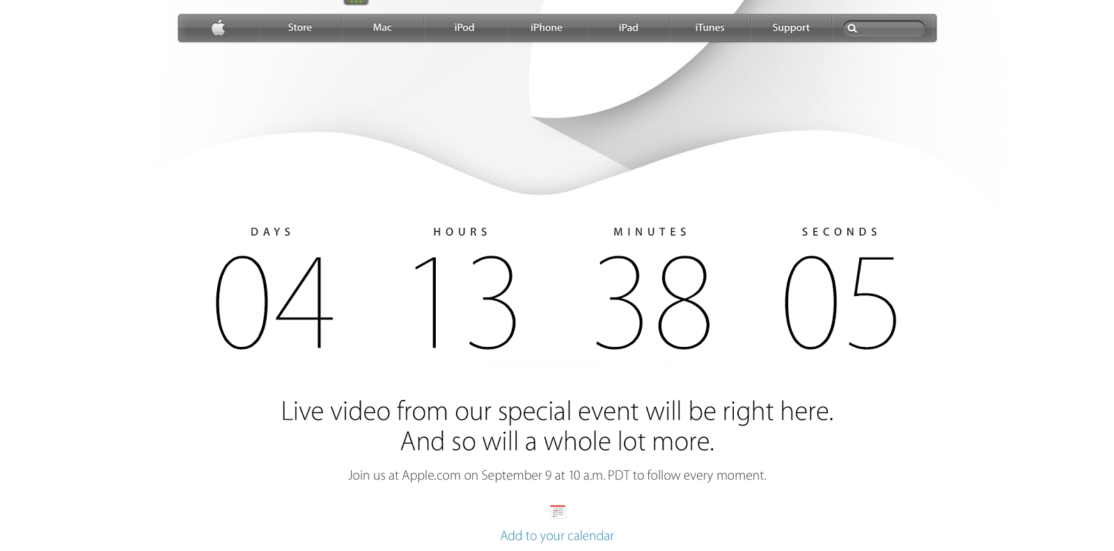 Tech Talk 4 Geeks: Apple Makes Page With Countdown For Iphone 6 Event Countdown Calendar On Iphone 6