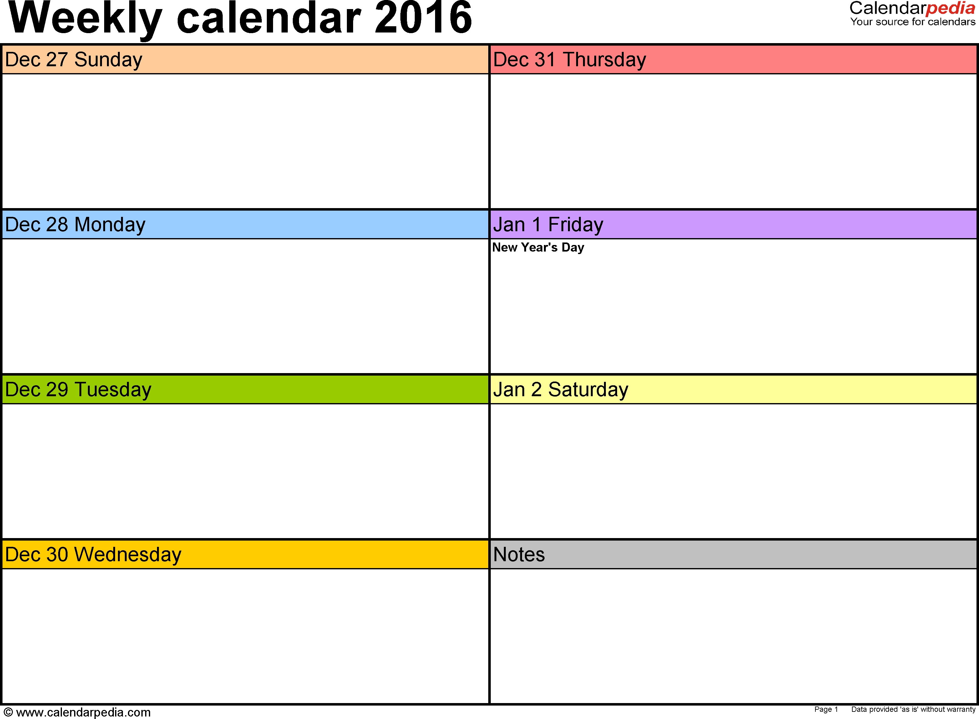 Weekly Calendar 2016 For Word - 12 Free Printable Templates Calendar Week To View Template