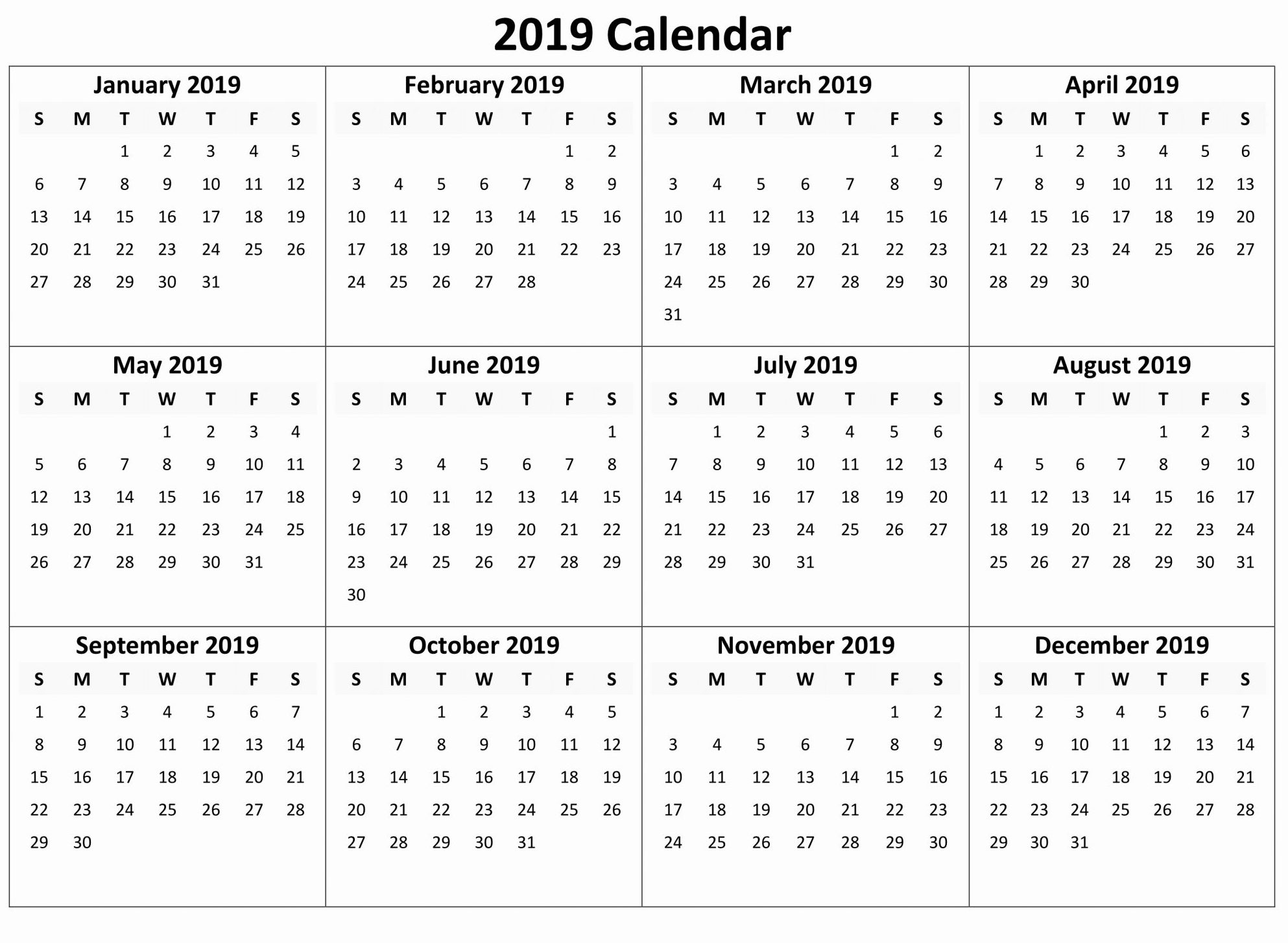 044 Yearly Calendar Free Download Month Template Marvelous Calendar Template Months On One Page Word
