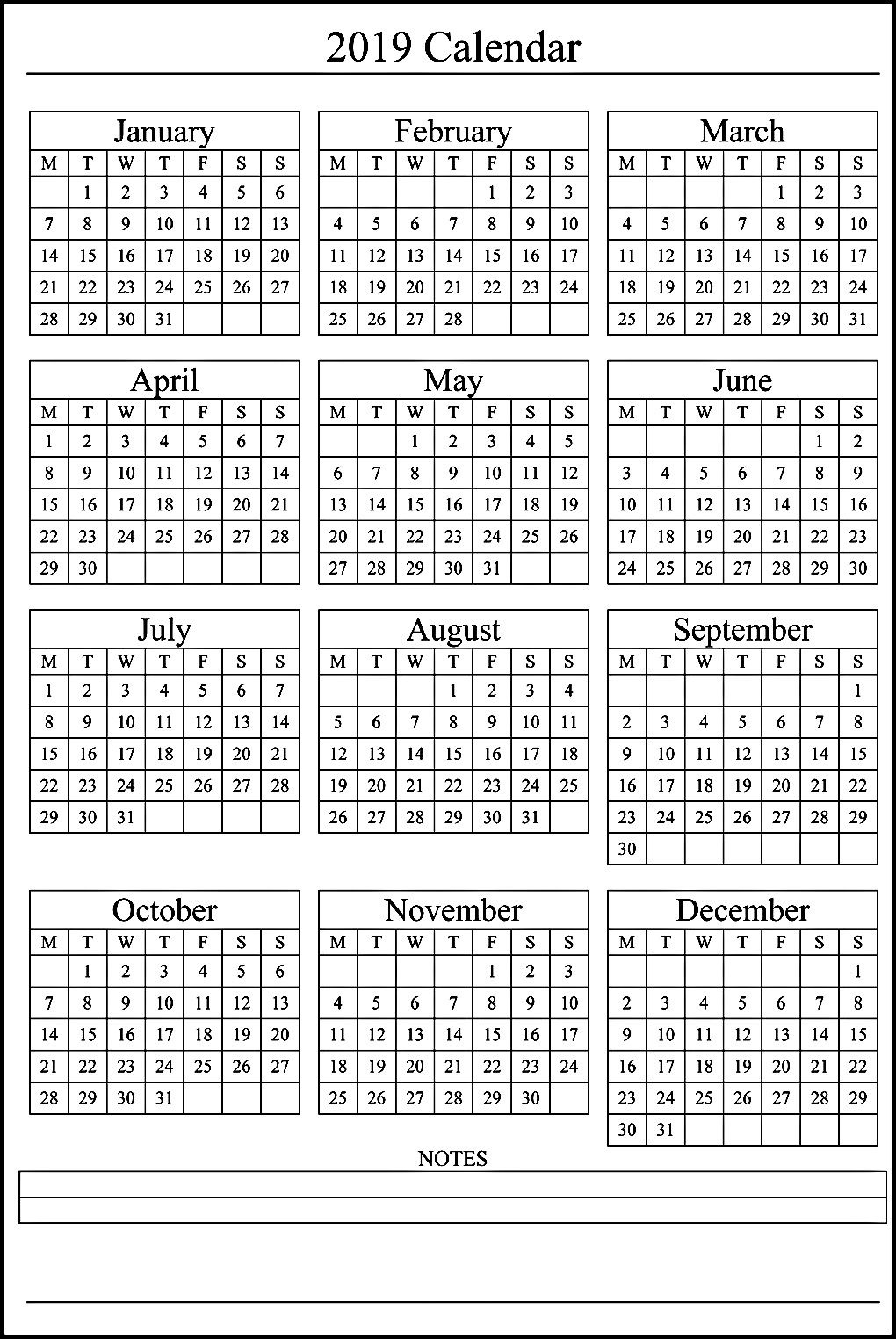 12 Month Calendar On One Page #2019Calendar Perky Calendar Template Months On One Page Word