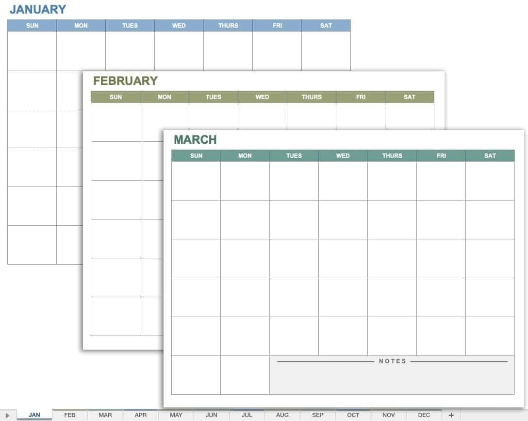 15 Free Monthly Calendar Templates | Smartsheet Calendar Template That Can Be Wrote On