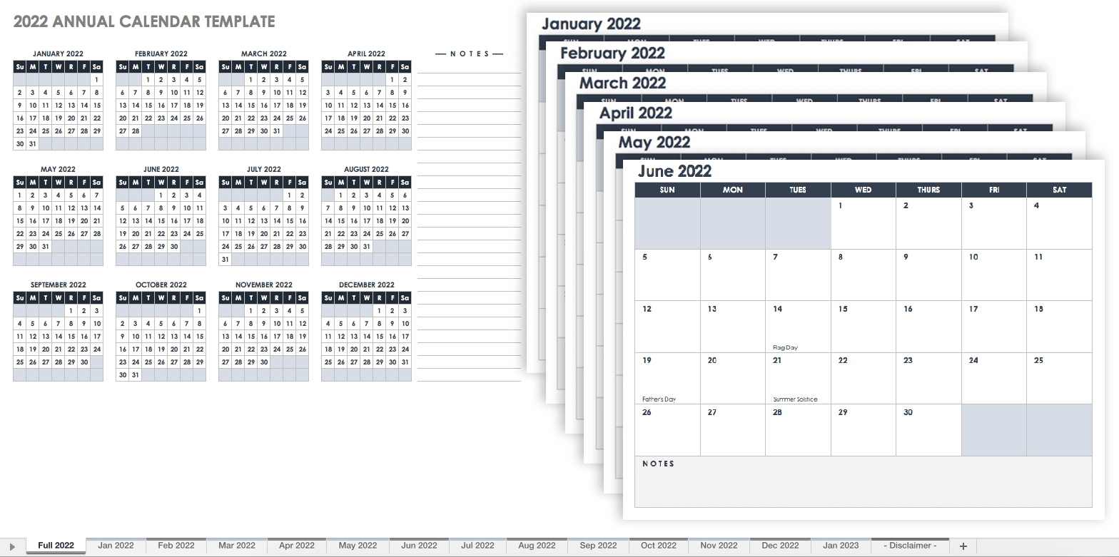 15 Free Monthly Calendar Templates | Smartsheet Free Printable Calenders With Legal Holidays