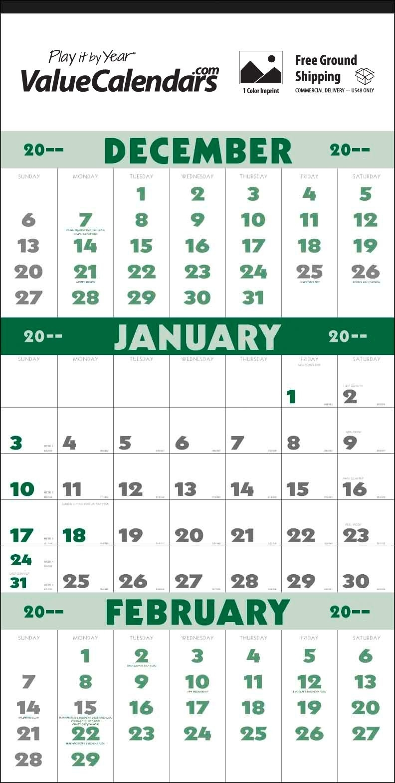 """2017 3-Month Planner (12-Sheet) Calendar 