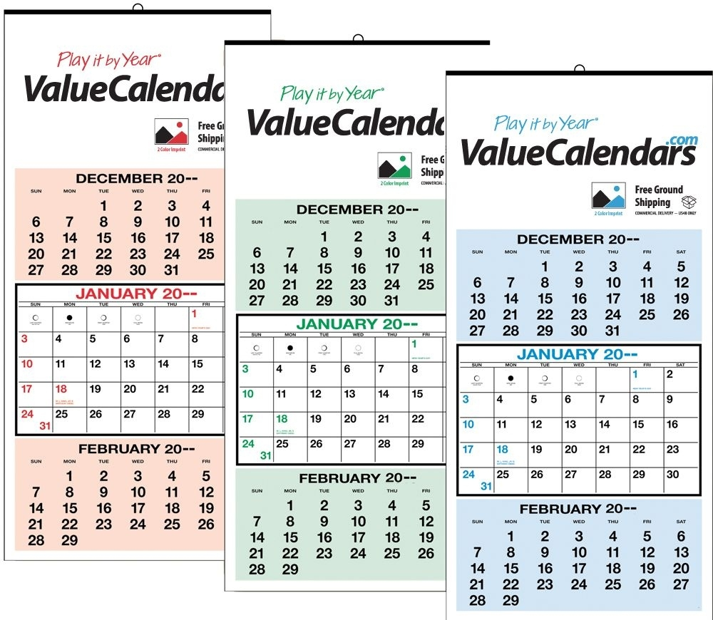 """2017 3 Months-At-A-Glance Calendar 