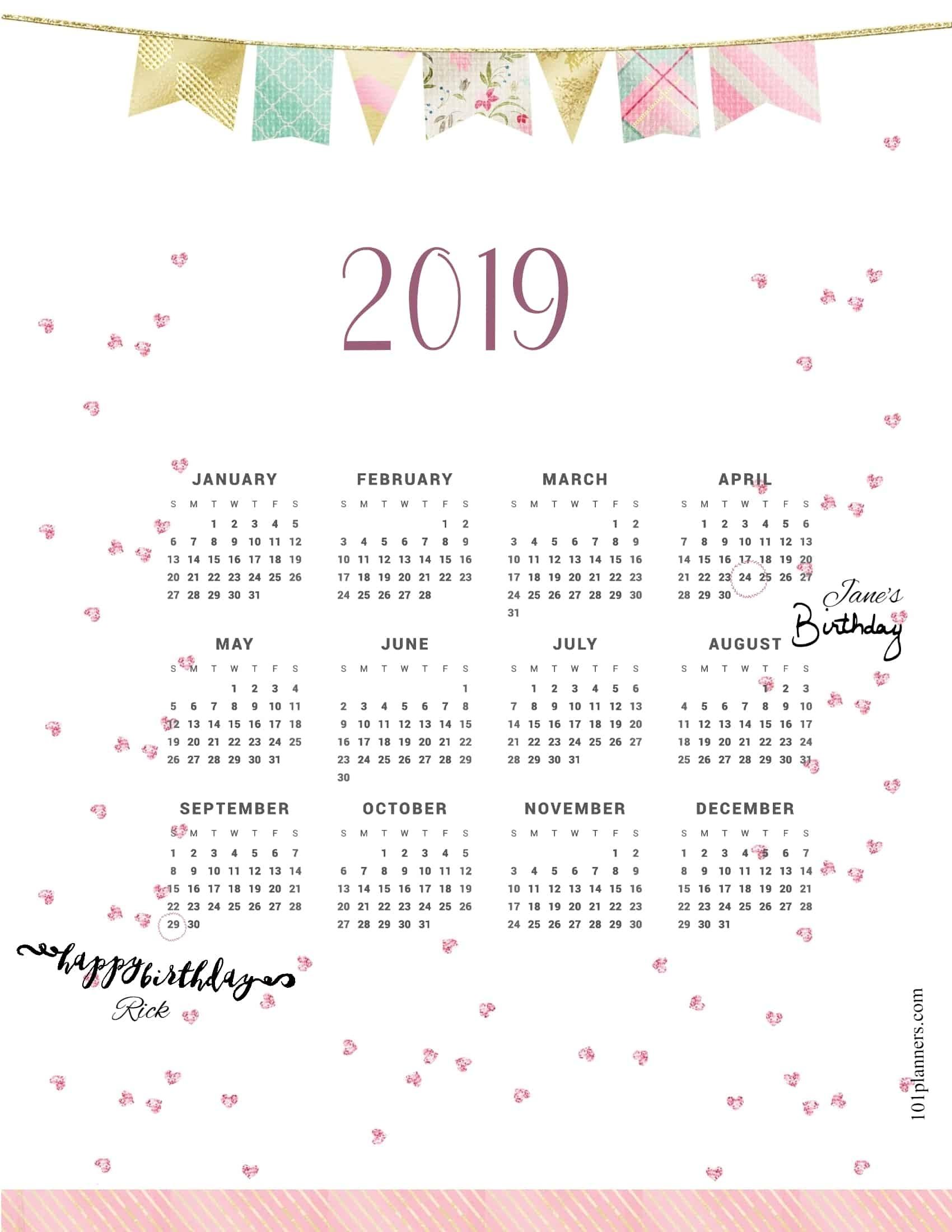 2019 Calendar Impressive Free 2020 Calendar At A Glance