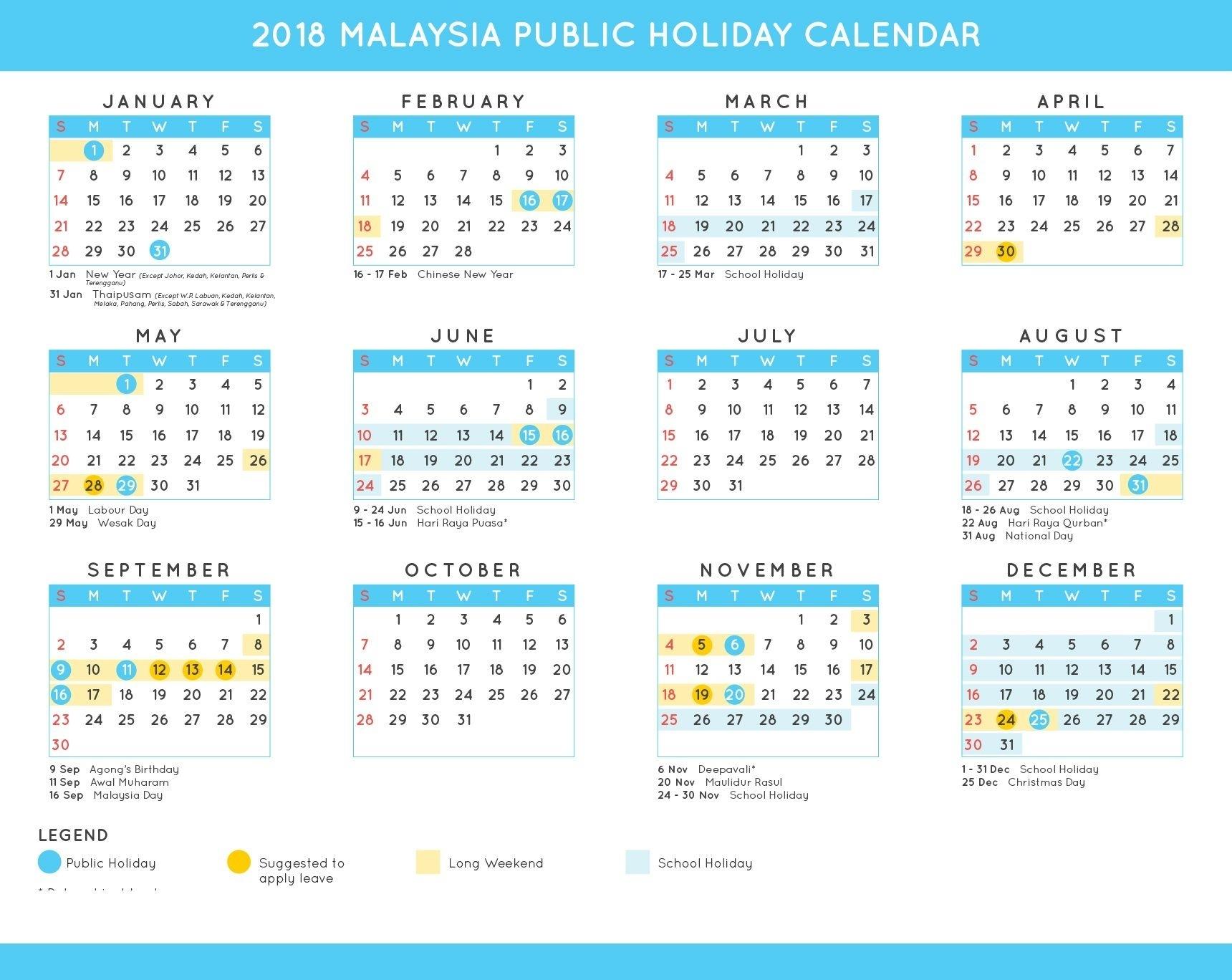 2019 Federal Holiday Calendar Download | Holiday Calendar Extraordinary Malaysia School Academic Calendar 2020