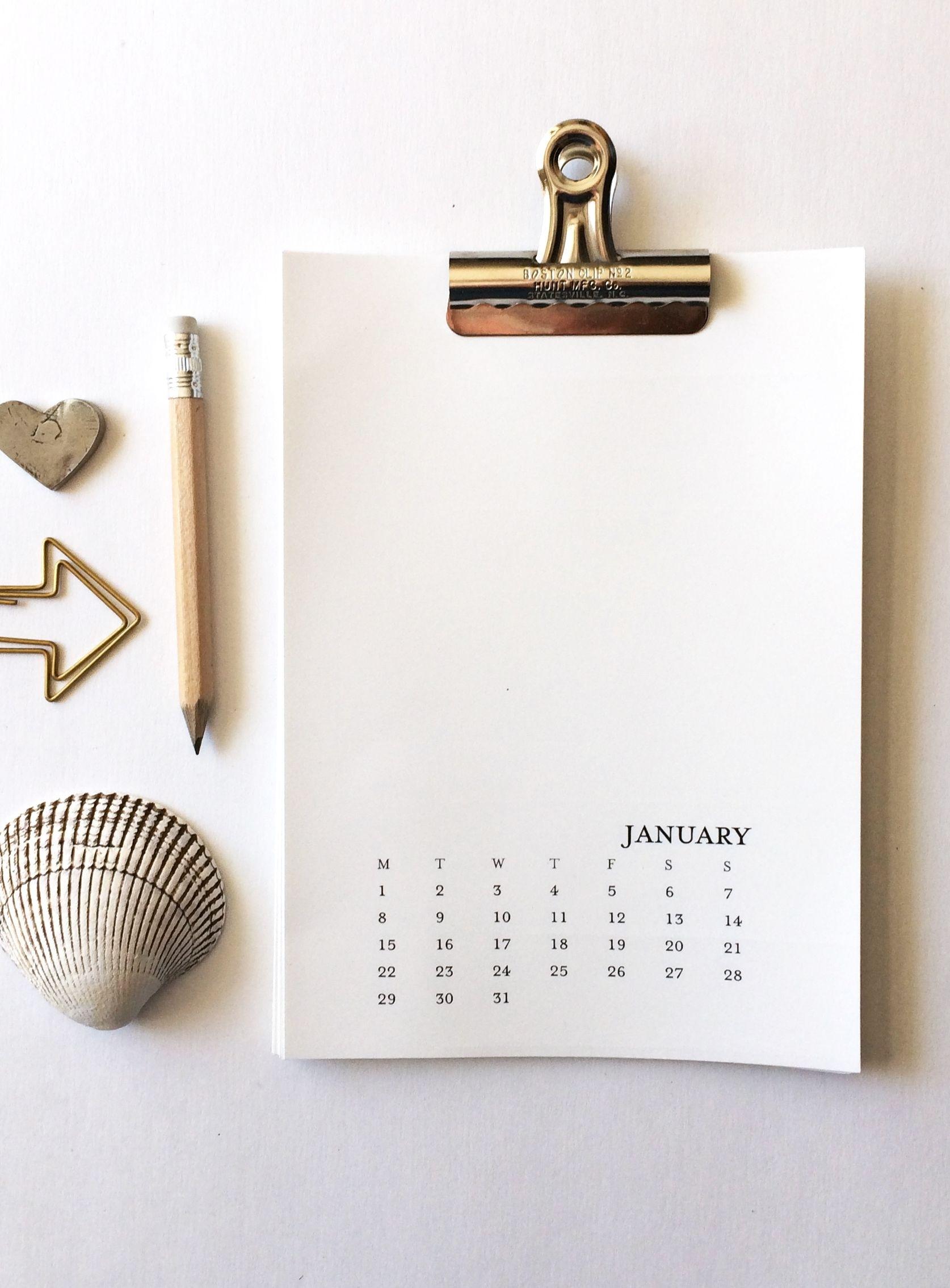 2020 Printable Calendar 5X7 Monday-Sunday - Printable 5 X 7 Blank Printable Calendar