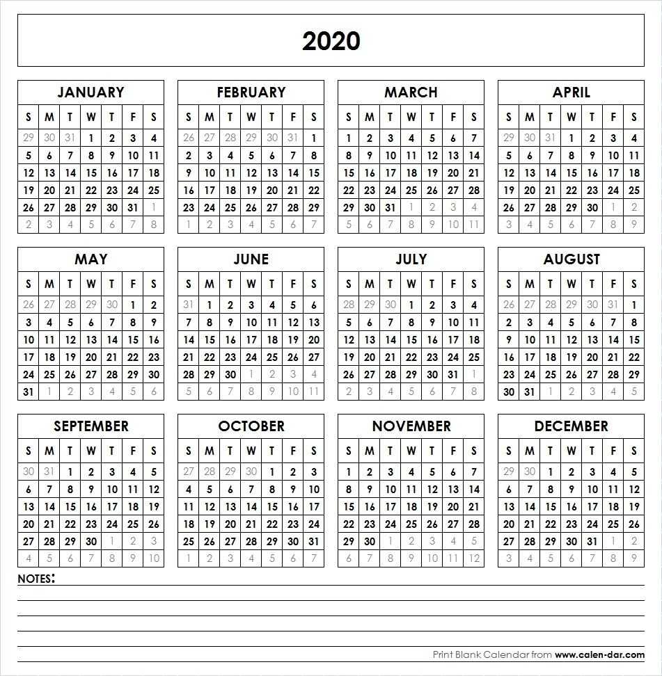 2020 Printable Calendar | Printable Yearly Calendar, Yearly Impressive Ms Word 2020 Verticle Calendar