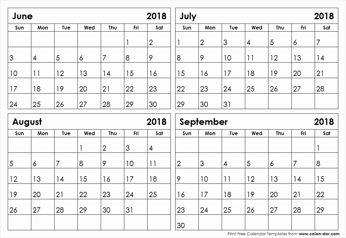 4 Months Per Page Calendar 2020 Printable   Monthly Exceptional Blank Calendar 2020 Four Months To Page