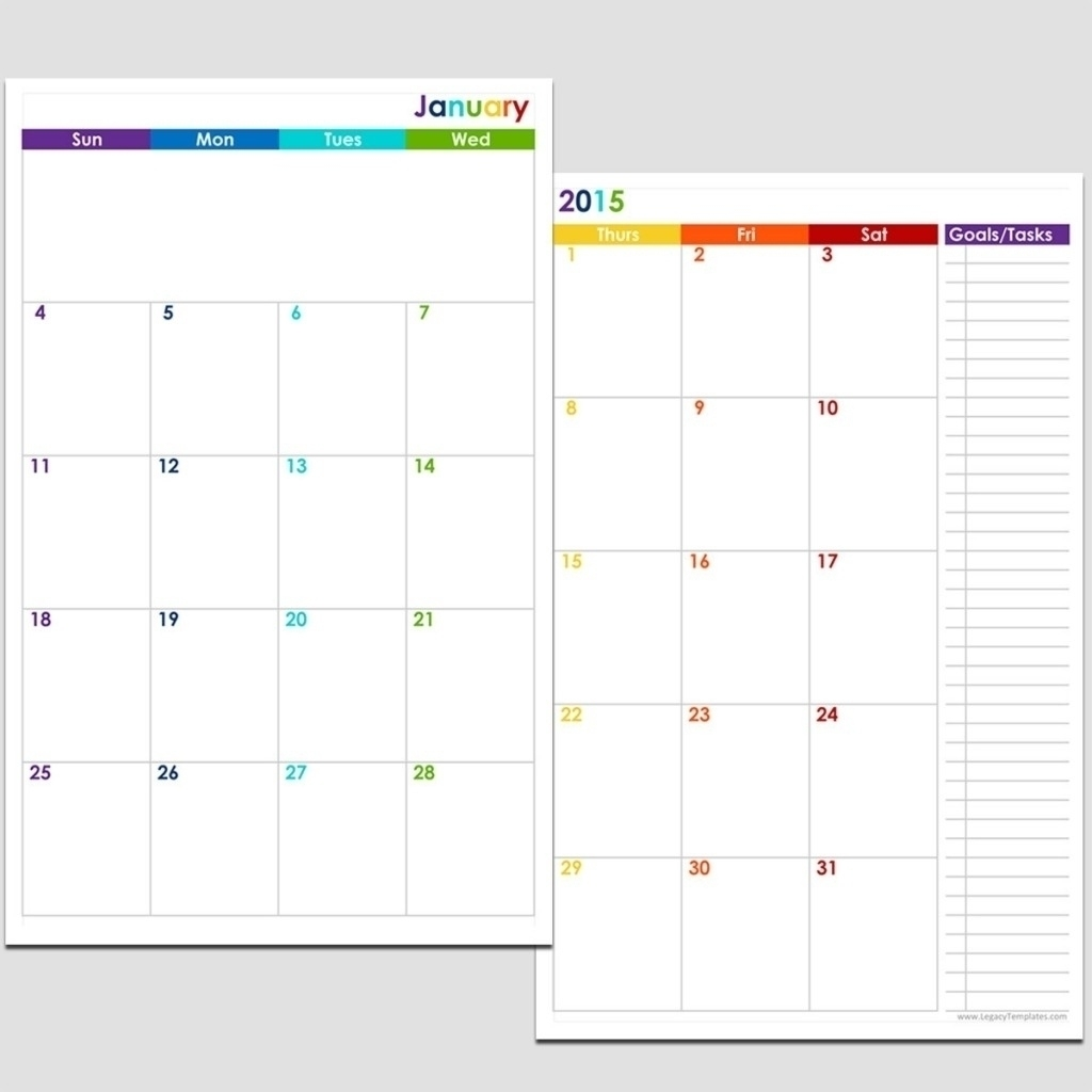 5.5 X 8.5 Calendar Template | Monthly Printable Calender Impressive 5.5 X 8.5 Calendar Printable