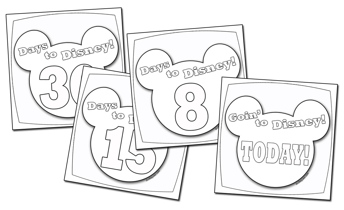 A Disney Countdown Calendar You Can Color Extraordinary Printable Countdown To Disney Calendar