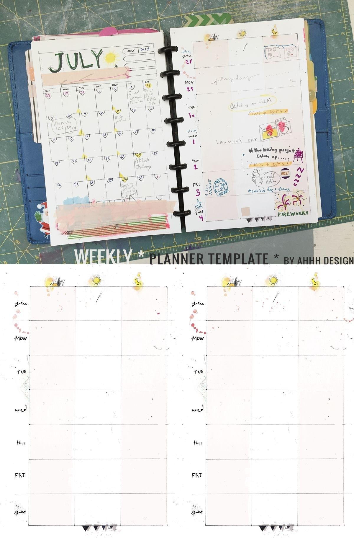 A Messy Week | Planner Template, Weekly Planner Template 5.5 X 8.5 Monrhly Plnnwe