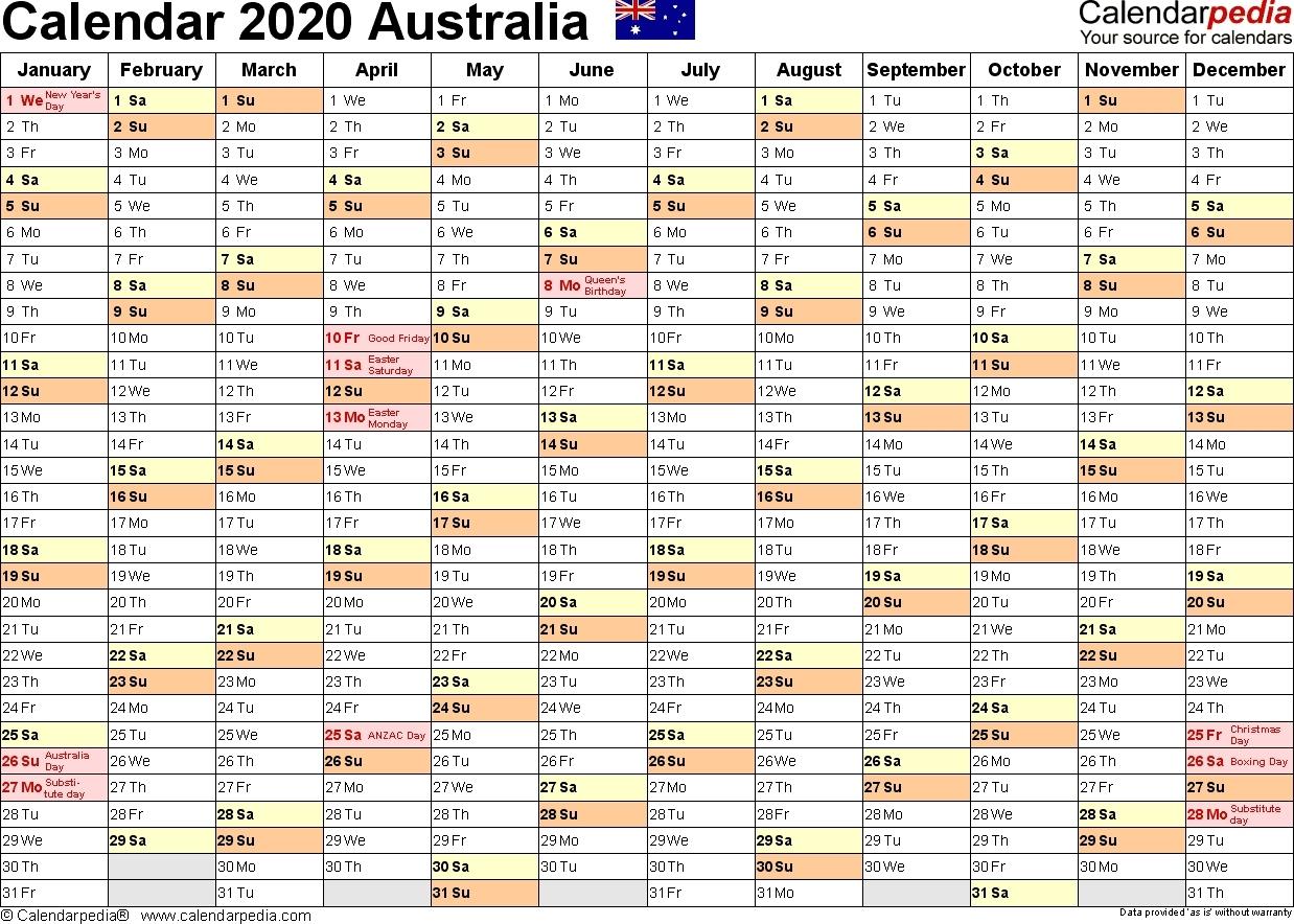 Australia Calendar 2020 – Free Printable Pdf Templates-2020 Remarkable Nsw Calendar 2020 Free Printable