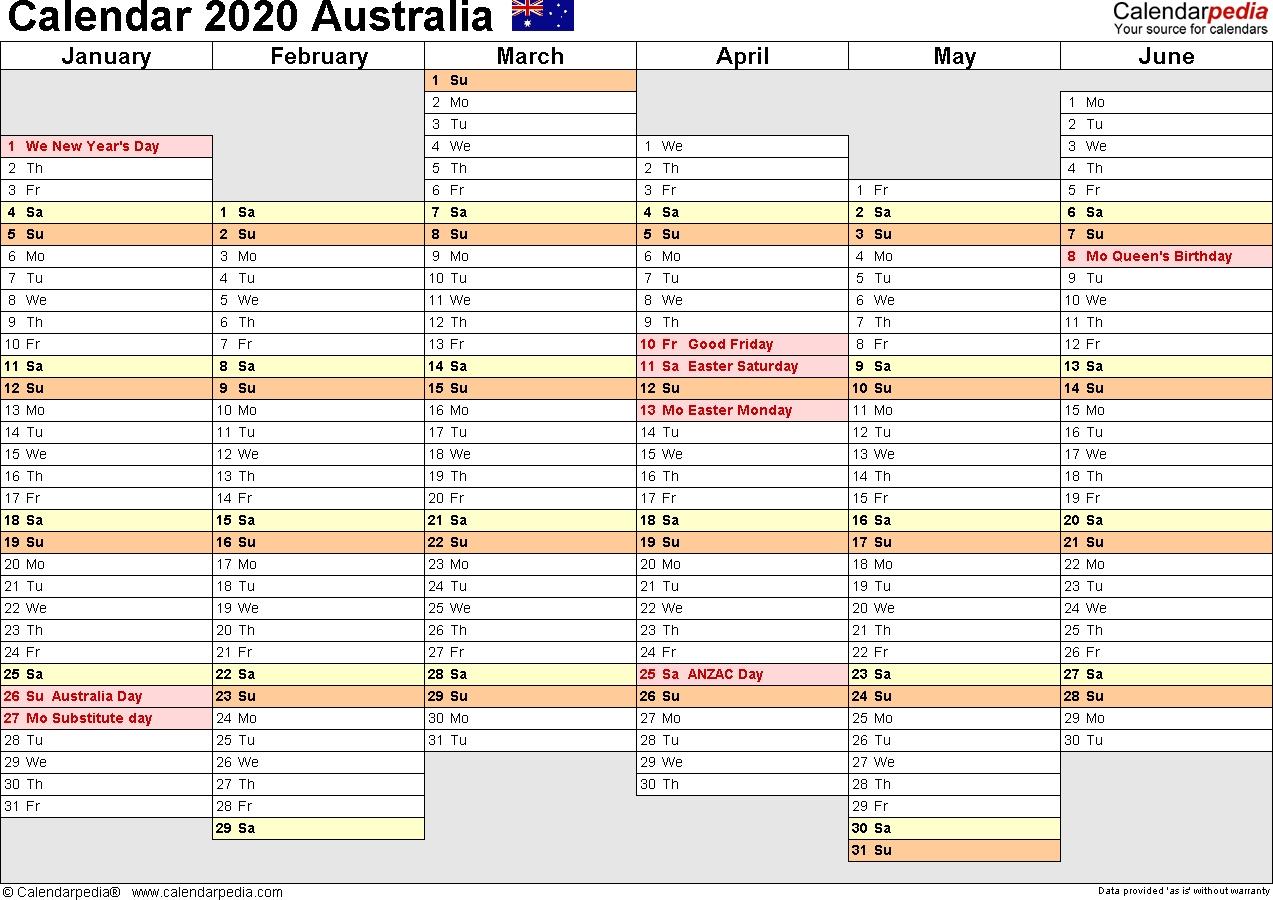 Australia Calendar 2020 - Free Printable Pdf Templates Remarkable Nsw Calendar 2020 Free Printable