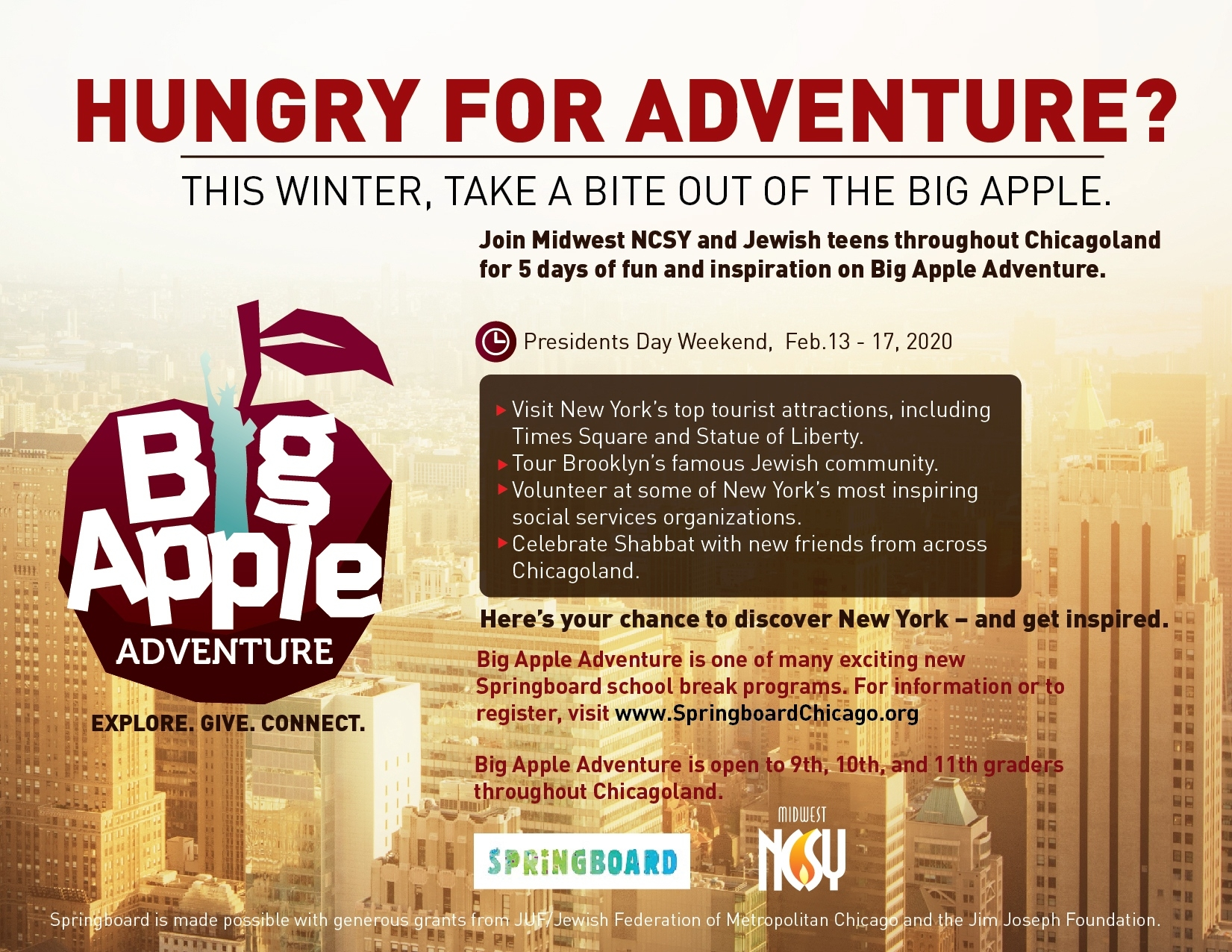 Big Apple Adventure - Midwest Ncsy When The Jewish Federation Of Chicago Will Be Close For Holidays In 2020