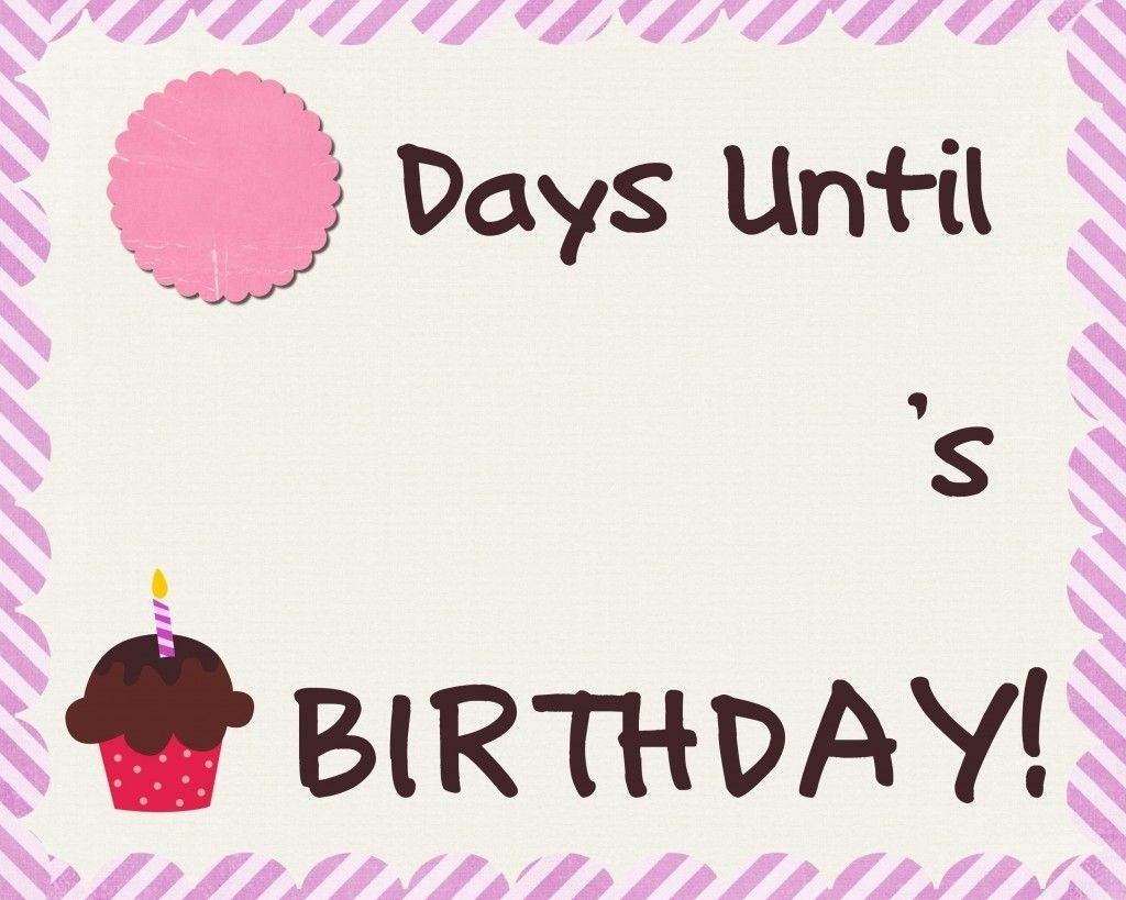 Birthday Countdown Sheet Free Printable   Birthday Countdown Exceptional Free Countdown Birthday Calendar Printable