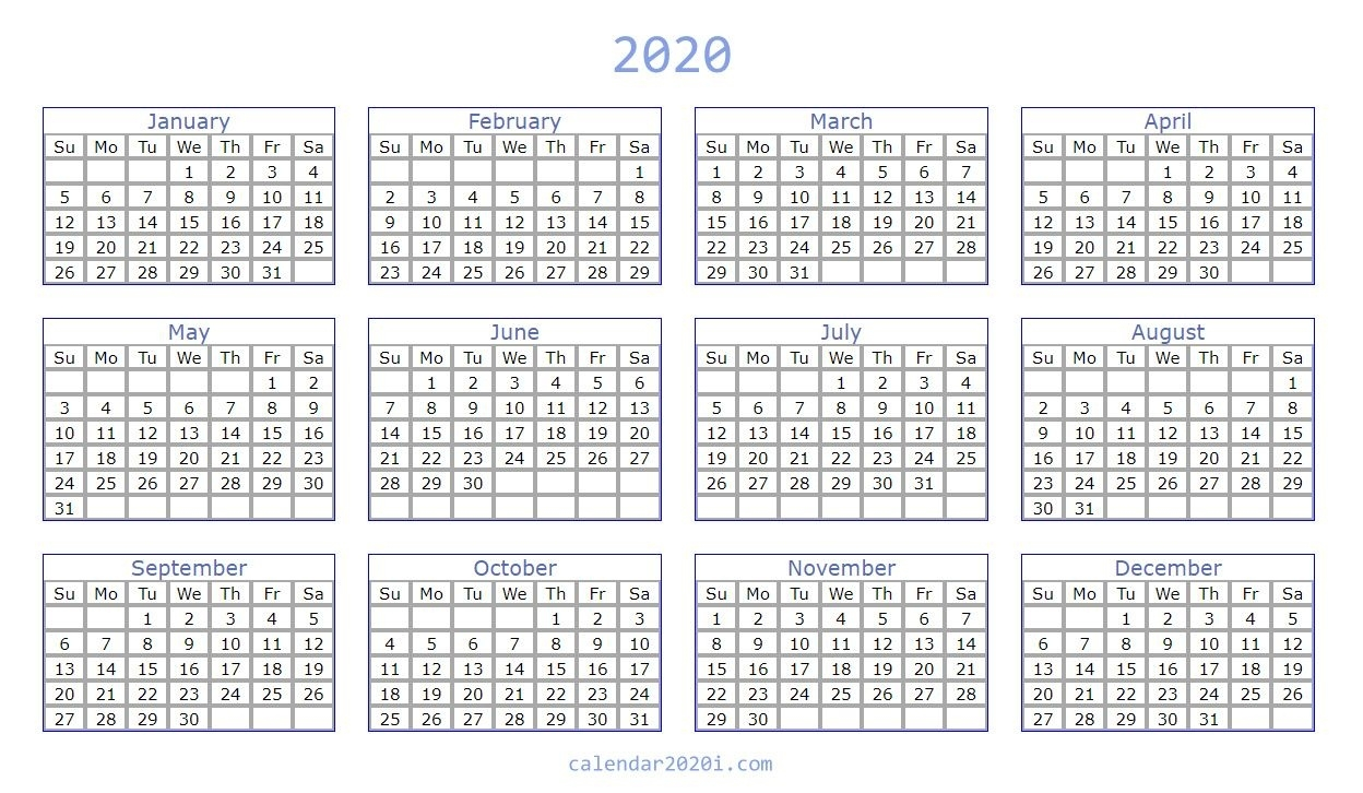 Blank 2020 Calendar Printable Templates | Calendar 2020 Incredible 6 Month Fill In Calendar On One Page