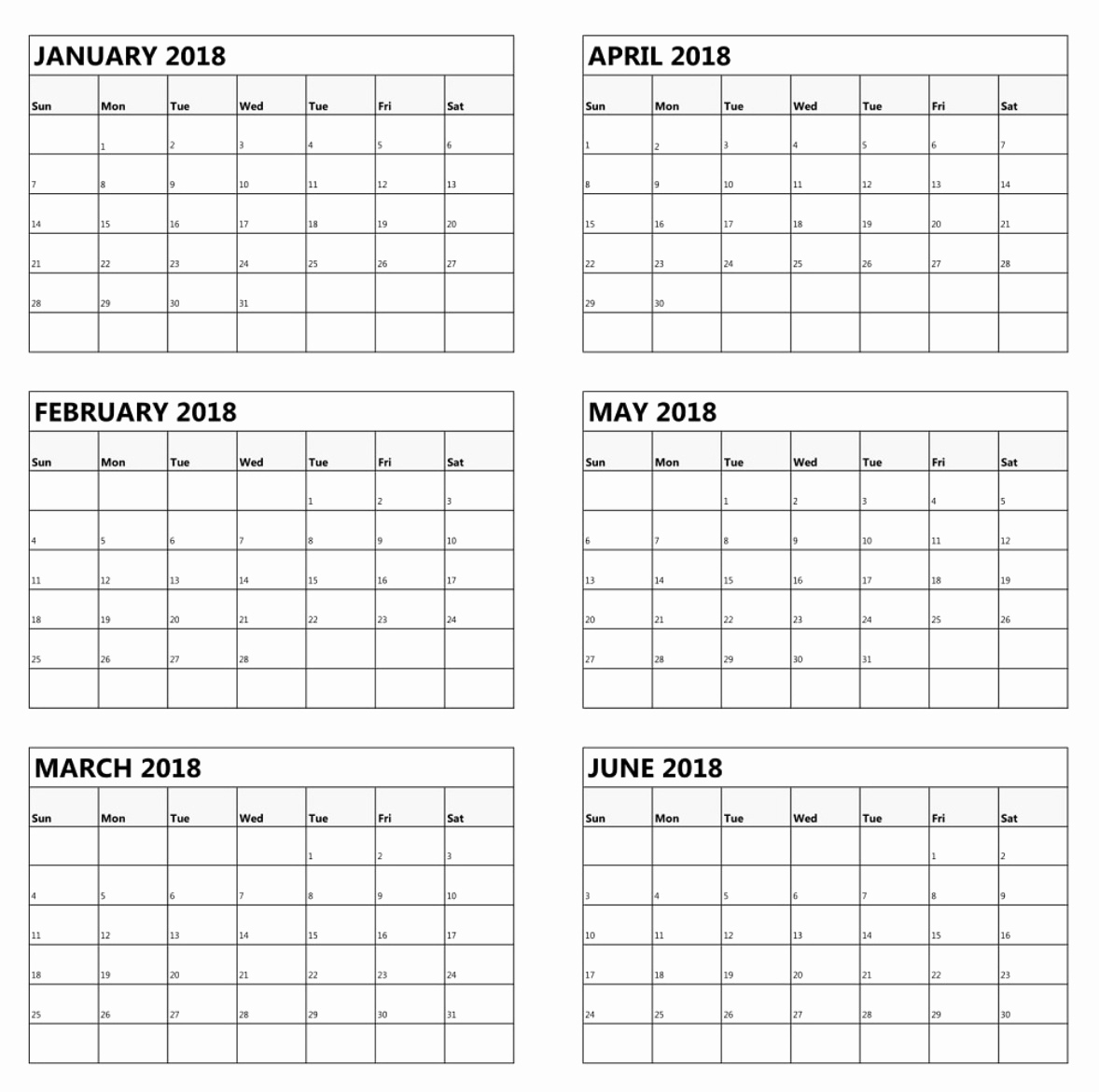 Blank Calendar 6 Months | One Page Calendar Printable Impressive Calenders With 6 Months Showing