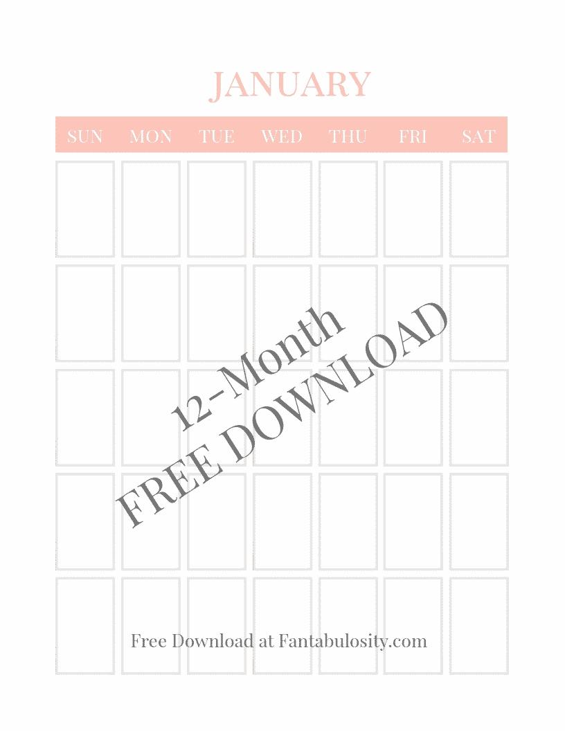 Blank Calendar - Free Vertical Monthly Calendar Printable Extraordinary Printable Binder Monthly Calender Blank