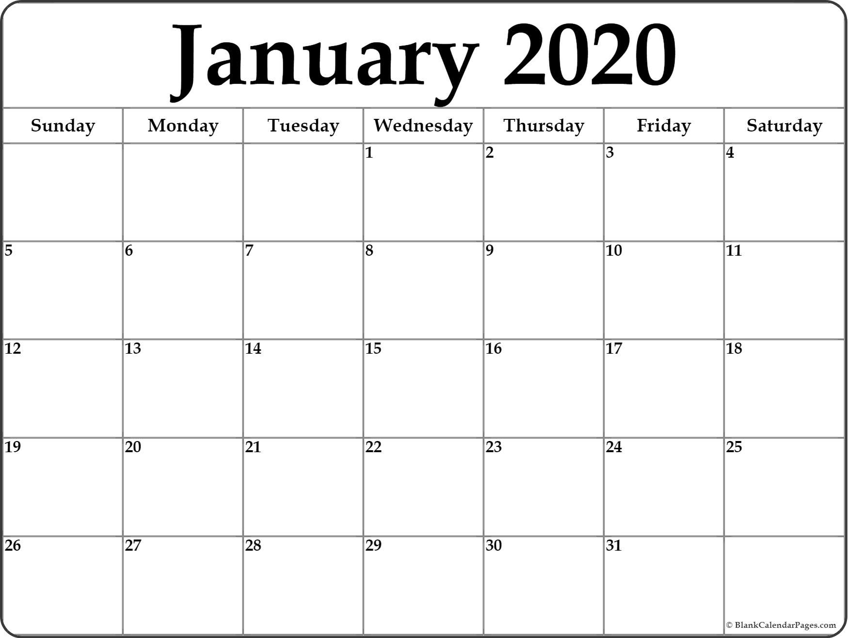 Blank Printable 2020 Calendar - Colona.rsd7 2020 Monthly Calendar Monday Start