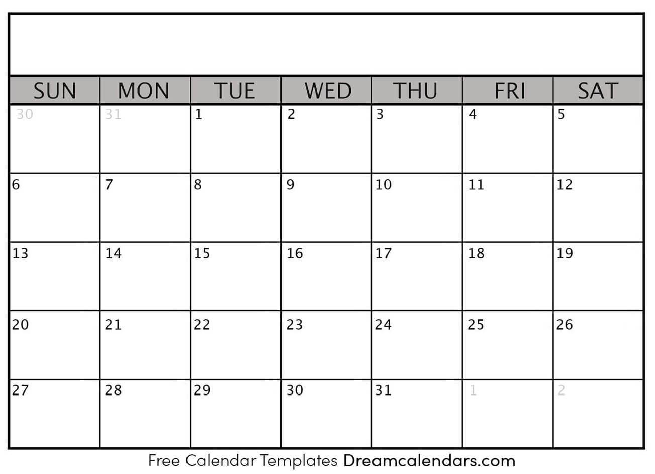 Blank Printable Calendar Templates - Ko-Fi ❤️ Where 2020 Blank Printable Monthly Template