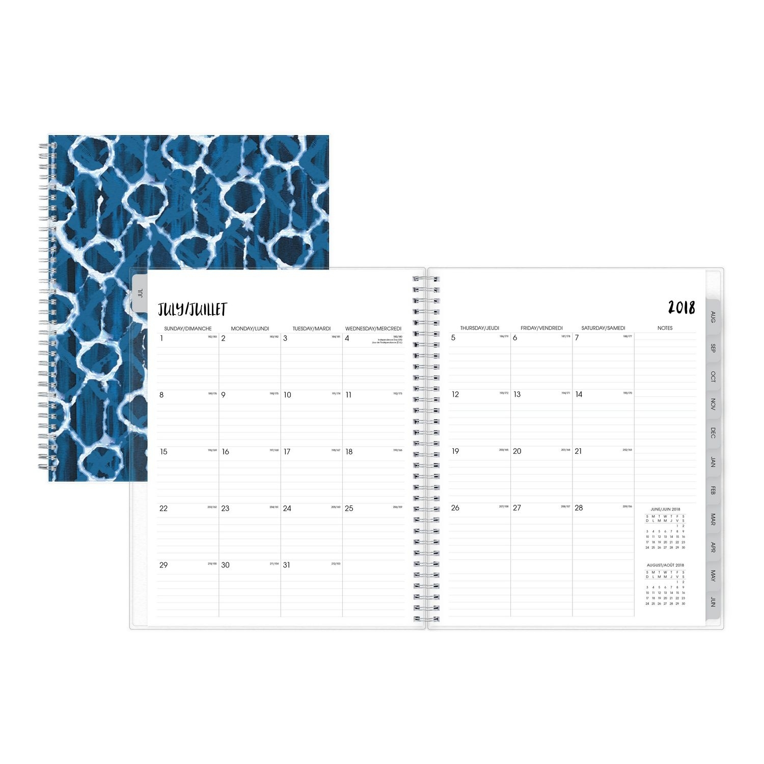 Blue Sky Kanoko Large Weekly/monthly Pp Planner For 2018-19 Exceptional 14 X 8.5 Monthly Calendar