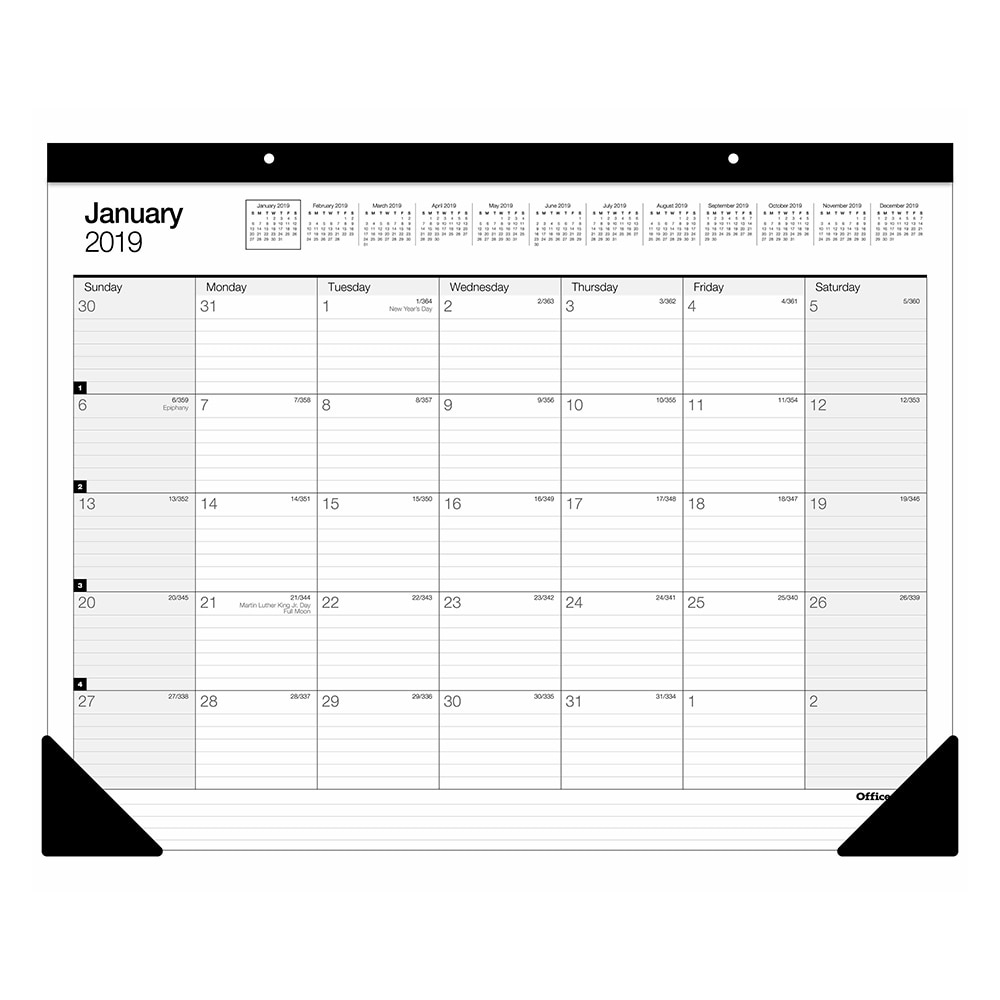 Buy Calendars & Planners - Office Depot & Officemax Extraordinary Commercial 14-Month Wall Calendar With 3-Month View