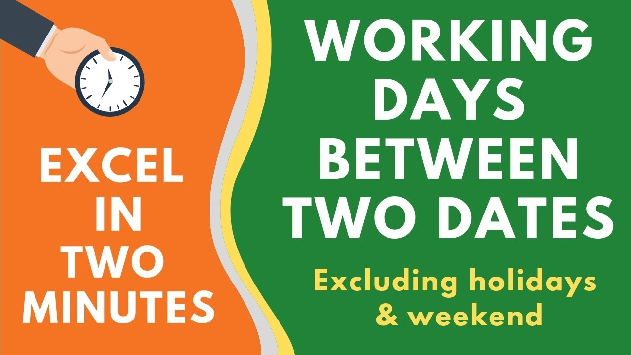 Calculate Working Days Between Two Dates In Excel (Excluding Weekend &  Holidays) Remarkable Countdown Clock Without Weekends And Holidays