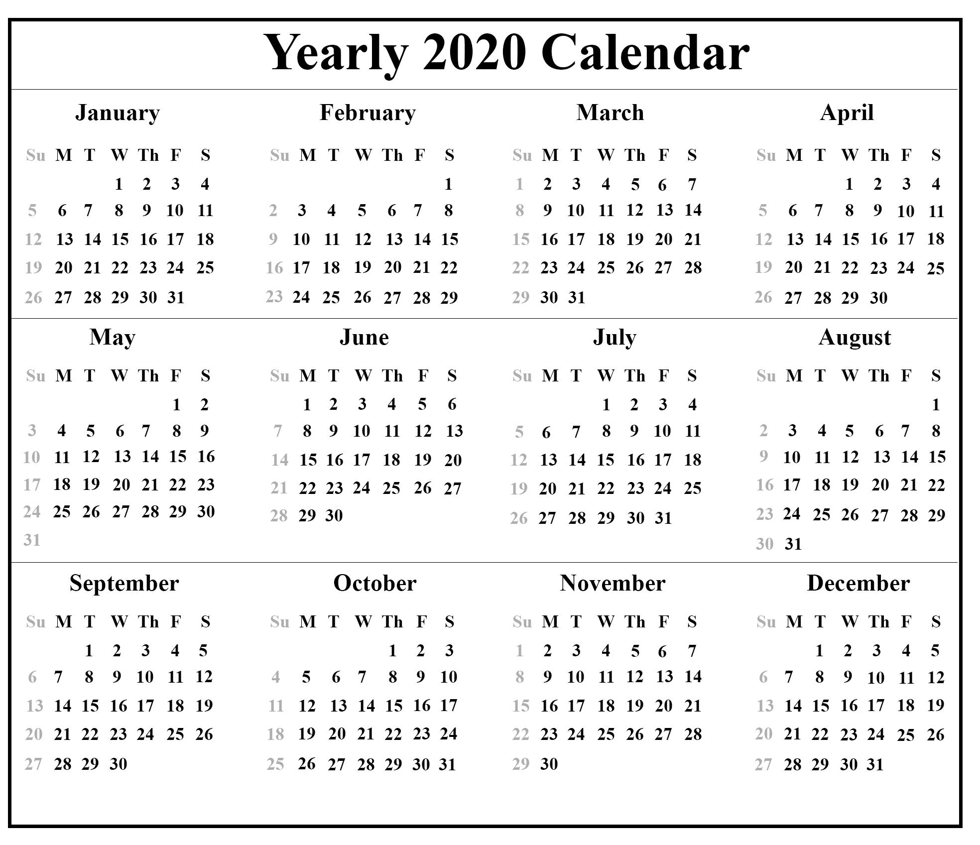 Calendar 2020 Download - Colona.rsd7 Printable Chinese Lunar Calendar 2020