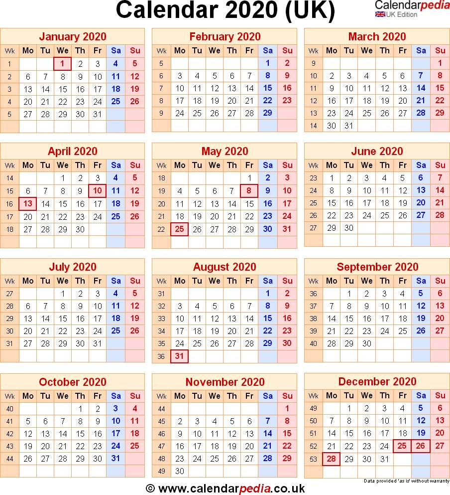Calendar 2020 Uk With Bank Holidays & Excel/pdf/word Templates Extraordinary 2020 Calendar With Bank Holidays Uk