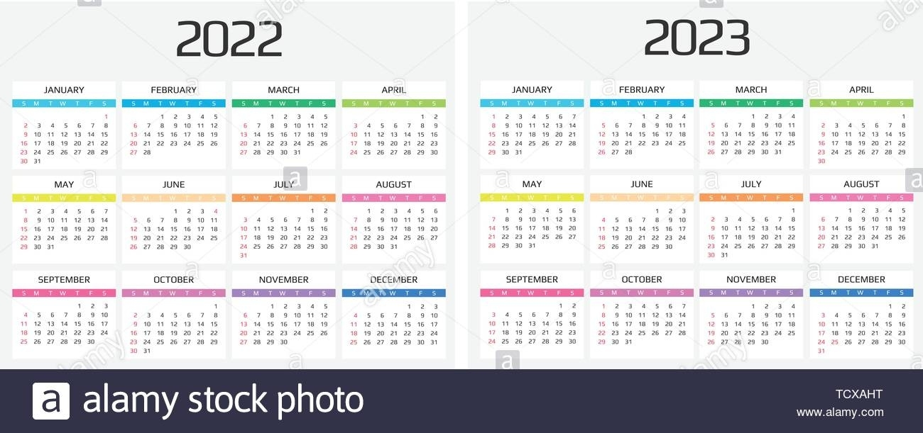 Calendar 2022 And 2023 Template. 12 Months. Include Holiday Exceptional Big Printable Calendars 2020 2021 2022
