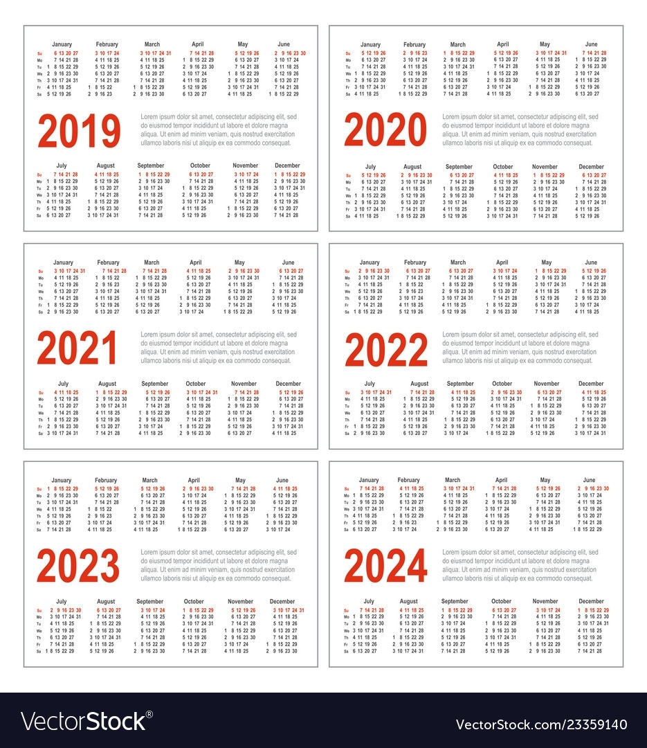 Calendar For 2019 2020 2021 2022 2023 2024 Exceptional Big Printable Calendars 2020 2021 2022