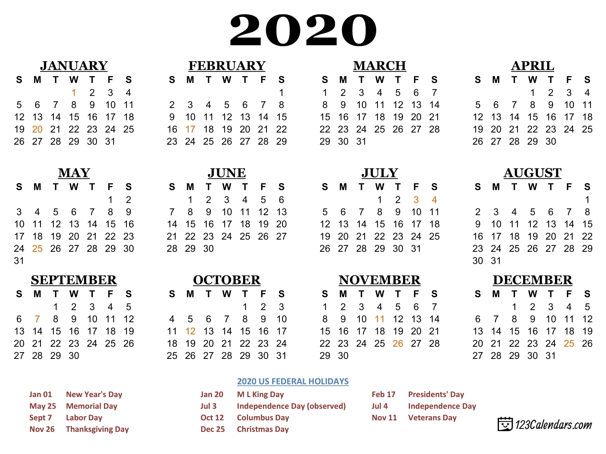 Calendar For Year 2020 Us - Firuse.rsd7 Perky Year Calendar 2020 Printable