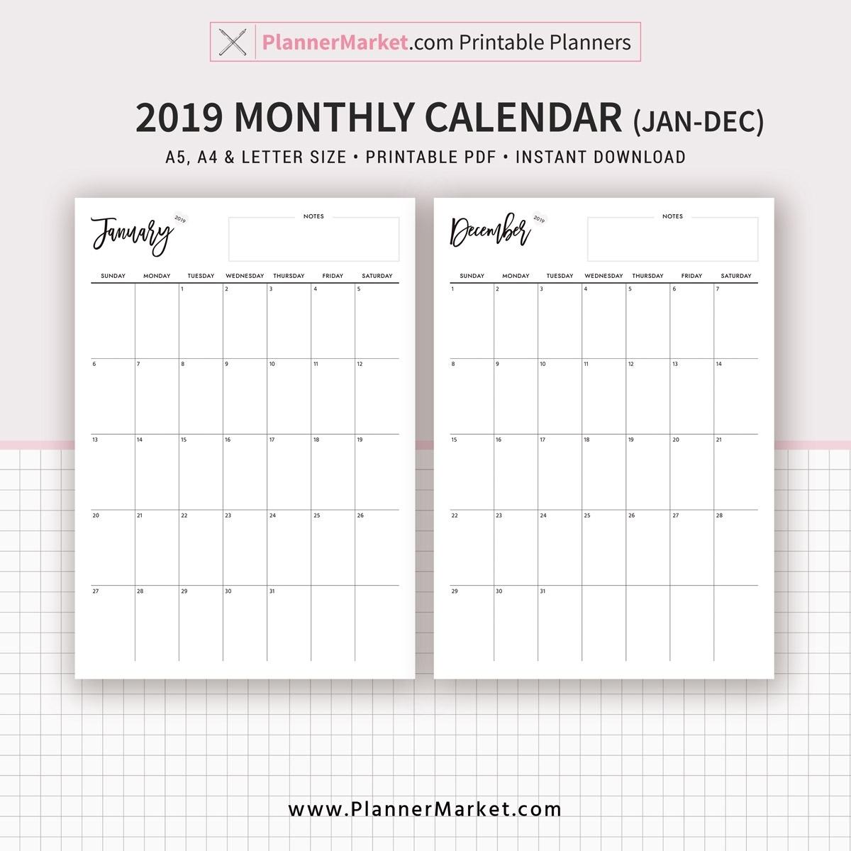 Calendar Planner Printable - Colona.rsd7 Extraordinary Printable Binder Monthly Calender Blank