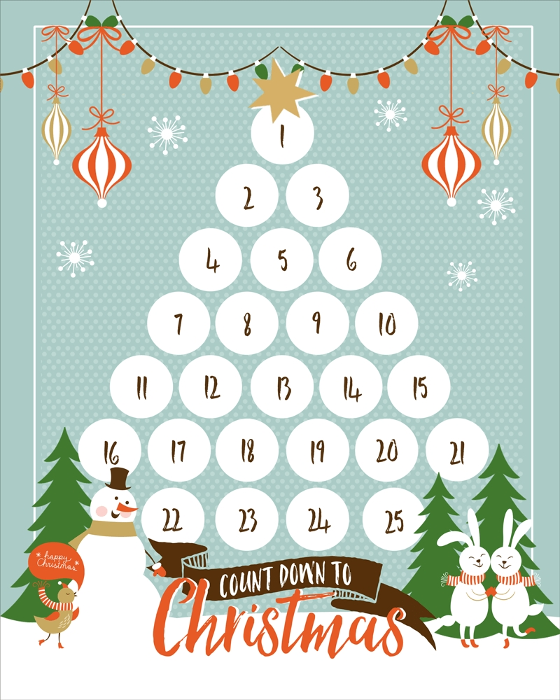 Countdown To Christmas Printable Xmas Countdown 2020 Clendar Printable